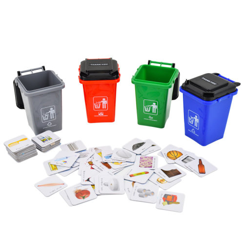 deAO Recycling Waste Classification Board Game Containers Set