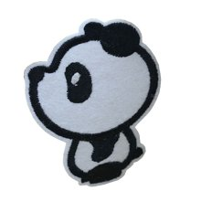 10PCS Embroidered Fabric Patches Sticker Iron Sew On Applique [Panda B]