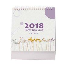 2017-2018 Small Fresh Mini Plan Book Creative Notebook Cute Calendar-H