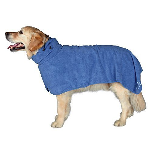 Trixie Bathrobe For Dogs Microfibre XL 75cm Blue - 75cm Towel Bathing -  bathrobe trixie microfibre blue dogs xl 75 cm towel bathing