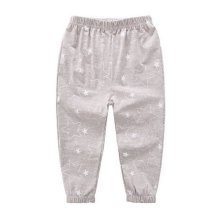 Comfortable Soft Children's Trousers, Gray Five-pointed Stars
