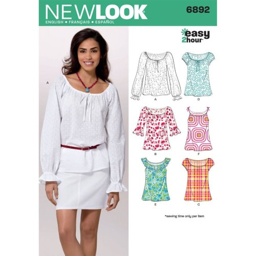 774635cb25e New Look Sewing Pattern 6892  Misses Tops