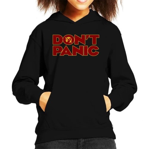 Dont Panic Hitchhikers Guide To The Galaxy Kid's Hooded Sweatshirt