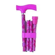 Switch Sticks Essentials- Leaf Pink/purple - Adjustable Folding Walking -  adjustable folding walking sticks essentials leaf pink purple design