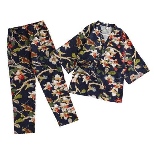 Cotton and Linen Japanese-style Pajamas Women's Autumn&Winter Kimono Pajamas