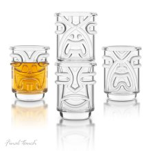 f4bb05623827 Final Touch TIKI Stackable Shot Glasses CLEAR 60ml Hawaiian Themed Pack of  4 - TK5301