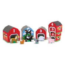 Melissa & Doug 12434  nesting And Sorting Barns And Animals  Toy