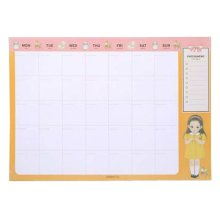 A4 Office Weekly Plan Of The Monthly The Schedule Book Monthly Calendar