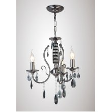 Ceiling 3 Light Black Chrome/Crystal