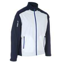 ProQuip Golf Mens Aquastorm PX1 Waterproof Rain Jacket Full Zip Navy/White 2X-Large