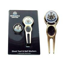 Newcastle United Executive Divot Tool Set - Brass/black/white - Marker Fc Ball -  tool newcastle united divot marker fc ball football golf