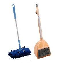 Children Housekeeping TOY Cleaning Play Set-Children Broom Dustpan Mop Suit, Orange&Blue