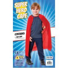 Red Children's Superhero Cape -  red cape fancy dress superhero child costume