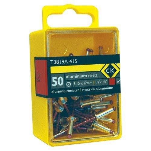 CK T3819A 415 Pop Rivets Aluminium 3.15x12mm Box Of 50