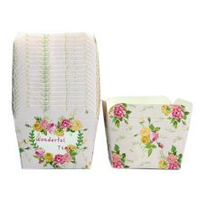 100PCS Lovely Square Baking Paper Cups Cupcakes Cases Cake Cup, No.2