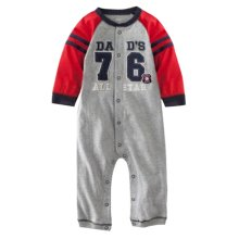 Baby Suit Baby Clothing Long-Sleeved Cotton Baby Crawl Sports Clothing Gray