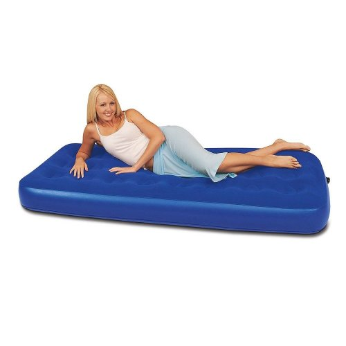 (Bestway) Comfort Quest Easy Inflate Flocked Air Bed Single