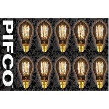 10 X PIFCO GLS 40 Watt B22 Bayonet Vintage Mini Globe Retro Light Bulbs