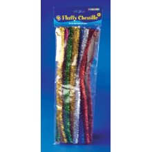 * Playbox - Fluffy Chenille (glitter) - 30 Cm, ? 15mm - Glitter Pipe Cleaners -  glitter pipe cleaners bag 20 30cm crafts new pbx2470281 playbox