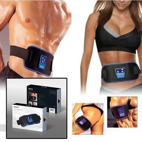 ABS TONING BELT TONE MUSCLE ABDOMINAL STOMACH GYMNIC BODY MASSAGER