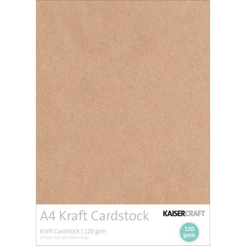 Kaisercraft Cardstock A4 20/Pkg-Kraft, 120gsm