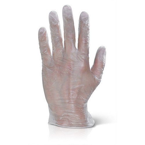 Click VDGPFL Vinyl Disposable Gloves Powder Free Clear Large Box of 1000