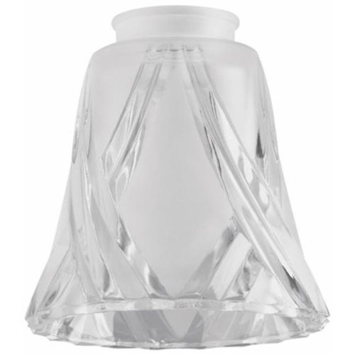 Westinghouse Lighting 8127000 2.25 in. Frosted & Clear Cross Lamp Shade - Pack of 6