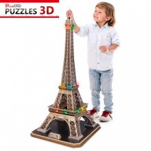 3D Puzzle with LED - Eiffel Tower, Paris - Difficulty : 6/8