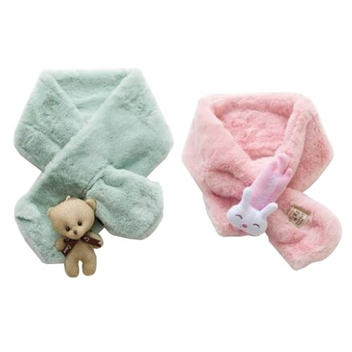 Set of 2 Cute Kids Scarves Children's Scarves Suitable for Winter [P]