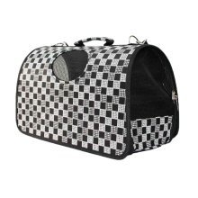 Fashion Dog Cat Pet Carrier Bags Travel Mesh Tote Handbag