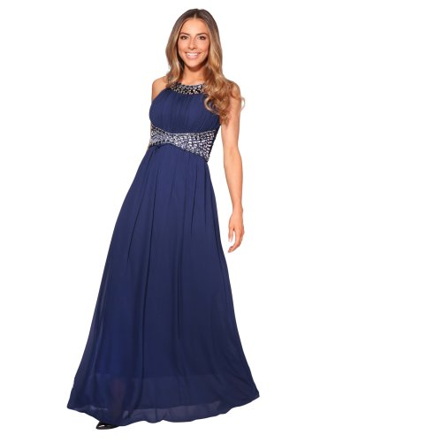 7fe23615 Diamante Empire Line Maxi Dress on OnBuy