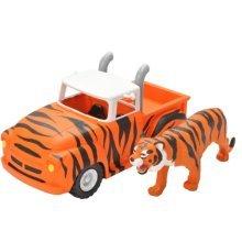 Wild Republic Tiger & Pick-up Truck Toy - 22cm Safari Adventure Hot Rod Pickup -  wild republic 22cm safari adventure hot rod pickup tiger figurine