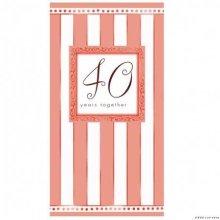 40th Anniversary Folded Invitations