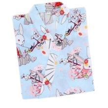 Japanese Style Women Thin Cotton Bathrobe Pajamas Kimono Skirt Gown-D07