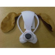 Brown & White Dog Mask With Sound -  sound mask animal fancy dress dog costume face