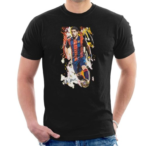 Sidney Maurer Original Portrait Of Luis Suarez Barcelona Men s T-Shirt on  OnBuy 41508dffb
