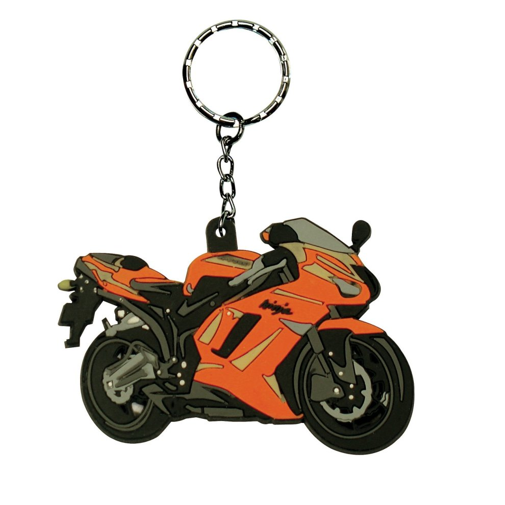 Kawasaki zx 6r 07 08 p7f p8f rubber keyring motor bike cycle gift zx6r on onbuy