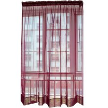 A Pcs of Sweet Gauze  Curtain Kitchen Curtain Coffee Screen Red