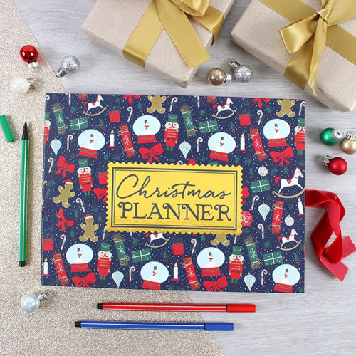 Hardback Christmas Planner Book With Sticky Notes