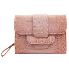 PU Vintage Style Wallet Purse Pouch Bag Card Holder Multifunctional, Pink