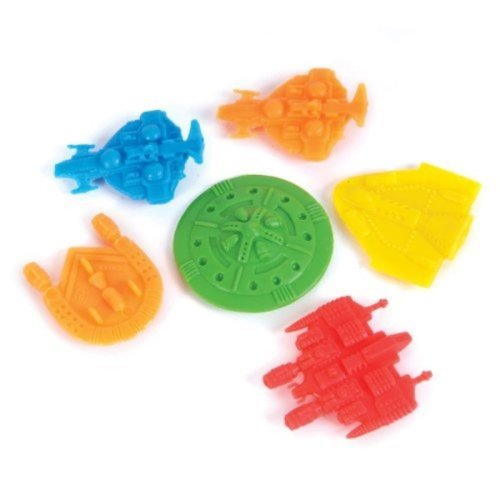 Pack 144 Space Ships: Assortment of 1.5 inch Plastic UFOs in Assorted Colors