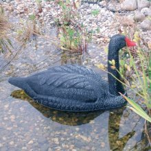 Ubbink Black Swan Garden Pond Ornament Plastic