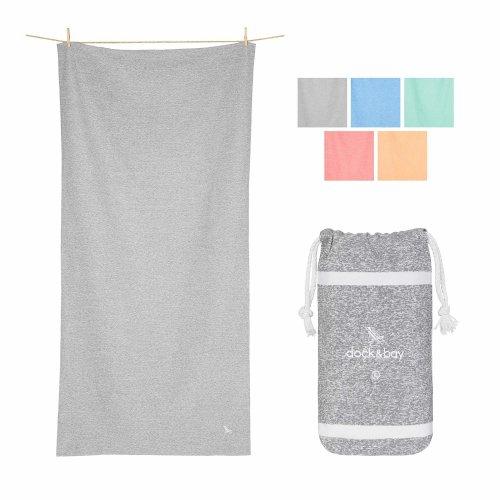 Dock & Bay Large Yoga Towels for Gym - Mountain Grey, Extra Large (78x35) - huge towel oversized yoga towel