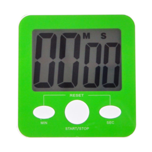 Quadrate Utility Functional Electronic Digital Timer Kitchen Timer, Green