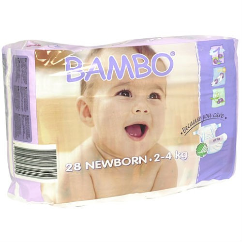 Beaming Baby Bambo Newborn Nappies 28's