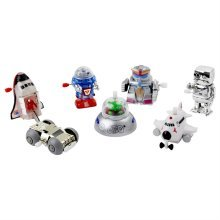 Set of 7 Robot Themed Wind-up Toys