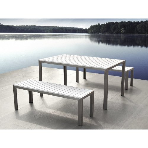 Garden Dining Furniture - Poly Wood Table and Benches - NARDO