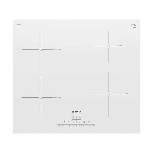 White Touch Control Induction Ceramic Hob BOSCH PUE612FF1J