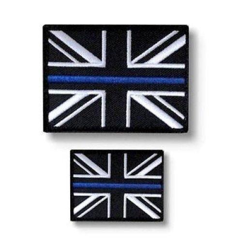 Thin Blue Line Union Jack Velcro Backed Patch
