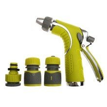 4YourHome Adjustable Garden Hose Nozzle with Flow Control & Comfort Grip Trigger Handle   Adjusts From Low to High Pressure